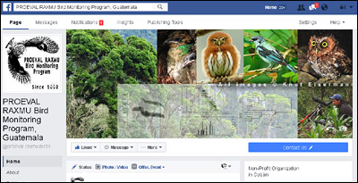 PROEVAL RAXMU Bird Monitoring Program at facebook